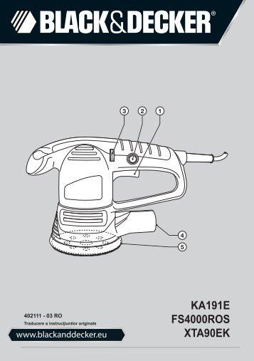 BlackandDecker Poncceuse Orbitale- Ka191ek - Type 3 - Instruction Manual (Roumanie)