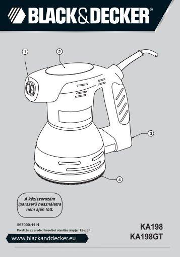 BlackandDecker Poncceuse Orbitale- Ka198 - Type 1 - Instruction Manual (la Hongrie)