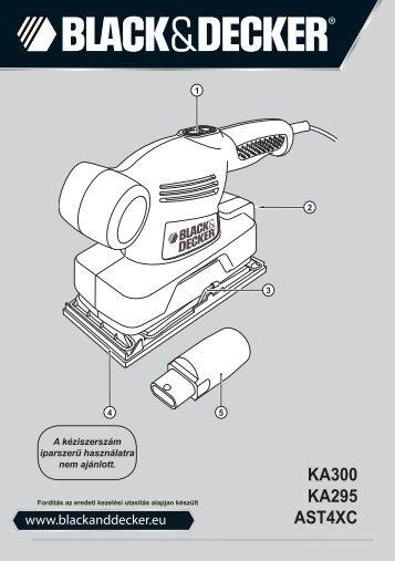 BlackandDecker Ponceuse Orbitale- Ast4xc - Type 1 - Instruction Manual (la Hongrie)