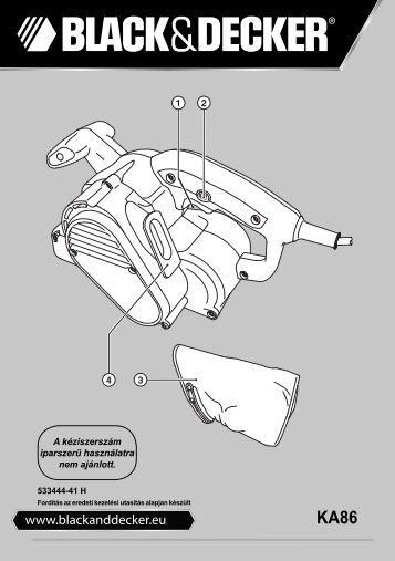 BlackandDecker Ponceuse A Bande- Ka86 - Type 1 - Instruction Manual (la Hongrie)
