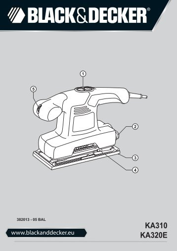 BlackandDecker Ponceuse- Ka320e - Type 1 - Instruction Manual (Balkans)