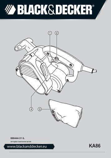 BlackandDecker Ponceuse A Bande- Ka86 - Type 1 - Instruction Manual (Israël)