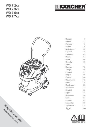 Karcher WD 7.700 P - manuals