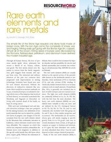 Rare earth elements and rare metals - IBC Advanced Alloys