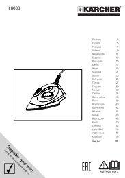 Karcher SC 4 + Fer à repasser - manuals