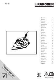 Karcher SC 5 + Fer à repasser - manuals