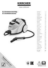 Karcher SC 5 Premium + Fer à repasser - manuals