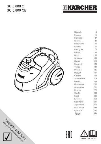 Karcher SC 5.800 C - manuals