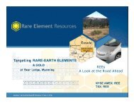 rare-earth elements - Hard Assets Rare Earths Investment Summit