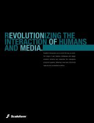 REVOLUTIONIZING THE INTERACTION OF HUMANS AND MEDIA.