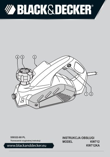 BlackandDecker Rabot- Kw712 - Type 2 - Instruction Manual (Pologne)