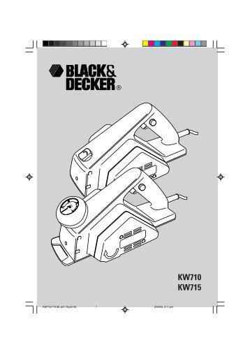 BlackandDecker Rabot- Kw715 - Type 3 - Instruction Manual (115 / 230 volt)