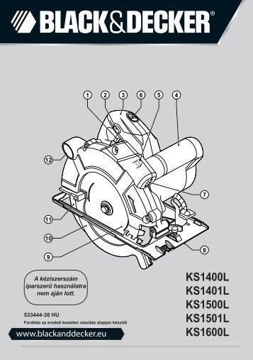BlackandDecker Scie Circulaire- Ks1400l - Type 2 - Instruction Manual (la Hongrie)