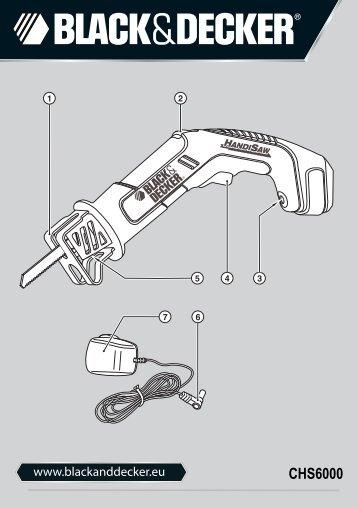 BlackandDecker Scie Sabre- Chs6000---A - Type H1 - Instruction Manual (Européen)