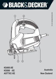 BlackandDecker Scie Sauteuse- Ks500 - Type 1 - Instruction Manual (Australie Nouvelle-Zélande)