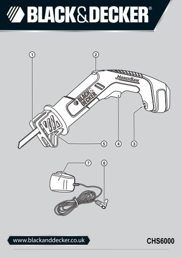 BlackandDecker Scie Sabre- Chs6000---A - Type H1 - Instruction Manual (Anglaise)