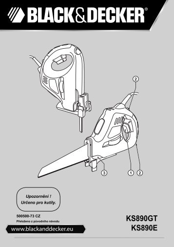 BlackandDecker Scie- Ks890e - Type 3 - Instruction Manual (Tchèque)