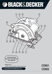 BlackandDecker Scie Circulaire- Cd602 - Type 1 - Instruction Manual (la Hongrie)