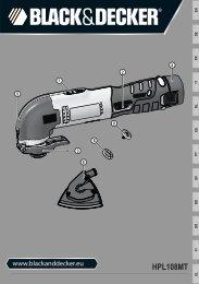 BlackandDecker Outil Oscillatoire- Hpl108 - Type H1 - Instruction Manual (Européen)