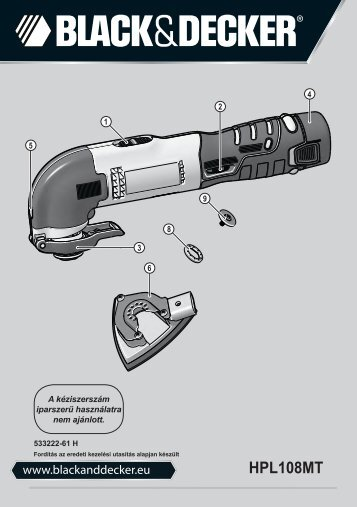 BlackandDecker Outil Oscillatoire- Hpl108 - Type H1 - Instruction Manual (la Hongrie)