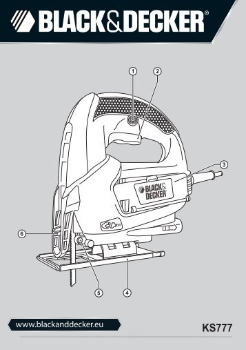 BlackandDecker Scie Sauteuse- Ks777 - Type 1 - Instruction Manual (Européen Oriental)