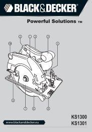 BlackandDecker Scie Circulaire- Ks1300 - Type 1 - Instruction Manual (Européen)