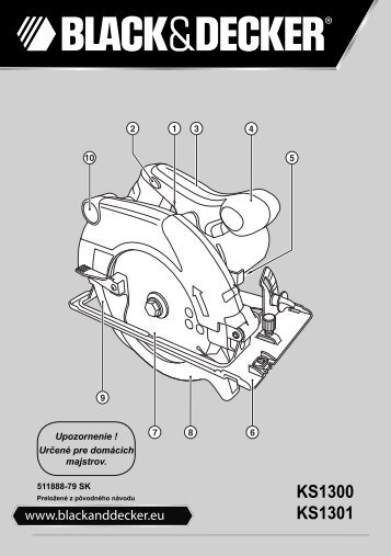 BlackandDecker Scie Circulaire- Ks1300 - Type 1 - Instruction Manual (Slovaque)