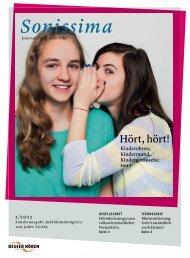 Journal Sonissima 1/2012 (.pdf) - Stiftung besser-hören-schweiz
