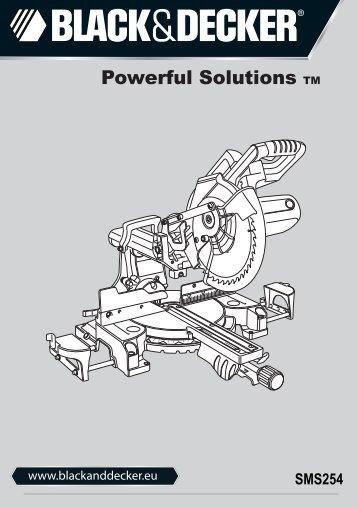 BlackandDecker Scie A Onglets- Sms254 - Type 1 - Instruction Manual (Européen)