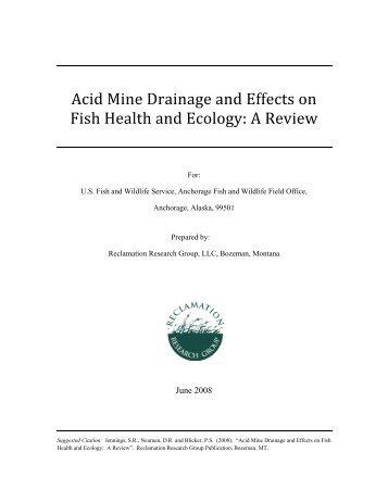 health effects of acid mine drainage