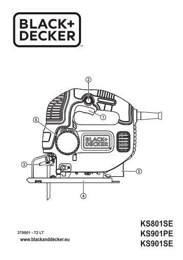 BlackandDecker Scie Sauteuse- Ks901pek - Type 1 - Instruction Manual (Lituanie)