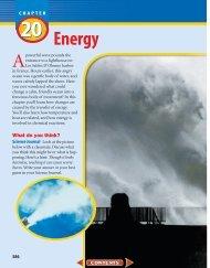 Chapter 20: Energy