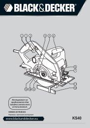 BlackandDecker Scie Circulaire- Ks40 - Type 1 - Instruction Manual (Russie - Ukraine)