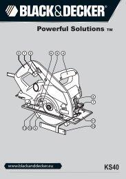 BlackandDecker Scie Circulaire- Ks40 - Type 1 - Instruction Manual (Européen)