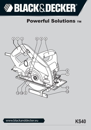 BlackandDecker Scie Circulaire- Ks40 - Type 1 - Instruction Manual (Européen)