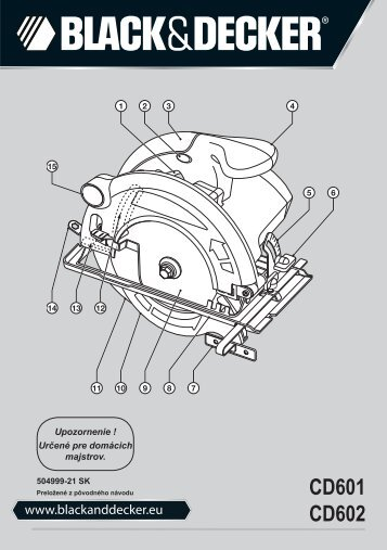 BlackandDecker Scie Circulaire- Cd602 - Type 2 - Instruction Manual (Slovaque)
