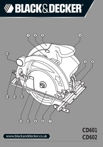 BlackandDecker Scie Circulaire- Cd601 - Type 2 - Instruction Manual (Anglaise)