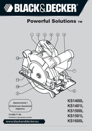 BlackandDecker Scie Circulaire- Ks1600lk - Type 1 - Instruction Manual (Slovaque)