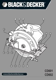 BlackandDecker Scie Circulaire- Cd601 - Type 3 - Instruction Manual (Européen)