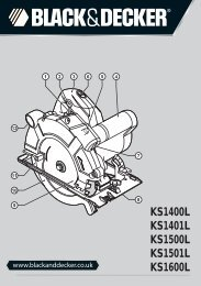 BlackandDecker Scie Circulaire- Ks1600lk - Type 2 - Instruction Manual (Anglaise)