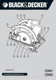 BlackandDecker Scie Circulaire- Cd602 - Type 3 - Instruction Manual (Européen Oriental)