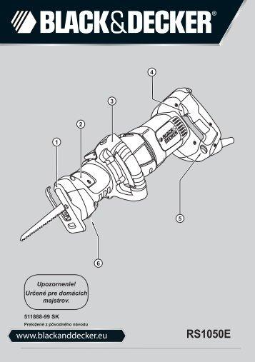BlackandDecker Scie Egoine- Rs1050e(K) - Type 1 - Instruction Manual (Slovaque)