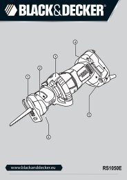 BlackandDecker Scie Egoine- Rs1050e(K) - Type 1 - Instruction Manual (Européen)