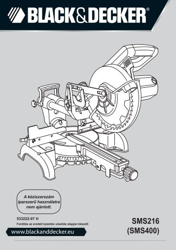 BlackandDecker Scie A Onglets- Sms400 - Type 1 - Instruction Manual (la Hongrie)