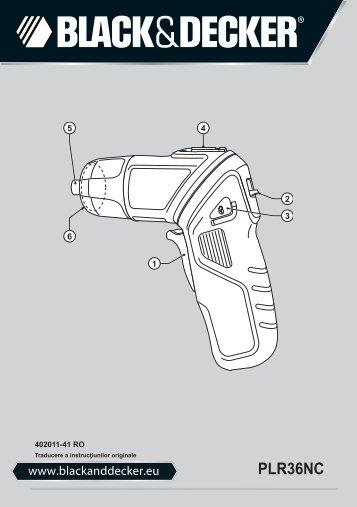 BlackandDecker Tournevis- Plr36nc - Type H1 - Instruction Manual (Roumanie)