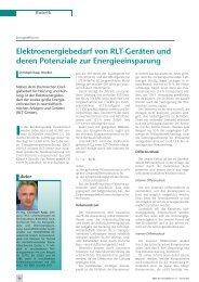 Elektroenergiebedarf von RLT-Geräten und deren ... - HOWATHERM