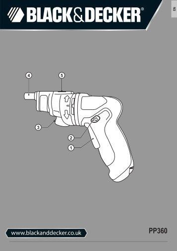 BlackandDecker Tournevis- Pp360 - Type 1 - Instruction Manual (Anglaise)