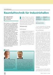 Raumlufttechnik für Industriehallen - HOWATHERM