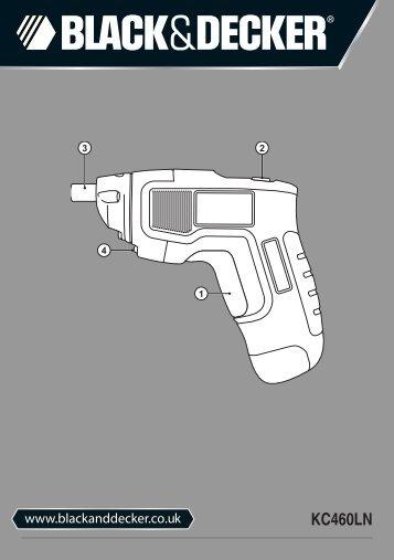 BlackandDecker Tournevis- Kc460ln - Type H1 - Instruction Manual (Anglaise)