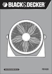 BlackandDecker Ventilateur- Fb1620 - Type 1 - Instruction Manual (Anglaise - Arabe)